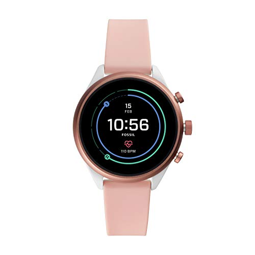 a215d17a205 Fossil Women s Gen 4 Sport Heart Rate Metal and Silicone Touchscreen  Smartwatch